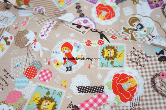 Japanese Fabric Children and Animals