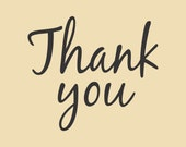 Thank you Ready to Ship Rubber Stamp Design RTS 003