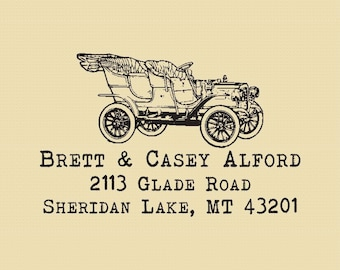 Brett and Casey Alford Custom Traditional Rubber Stamp Design R005