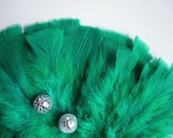 VOGUE TURKEY FEATHERS Loose Feathers , Emerald Green  / 277