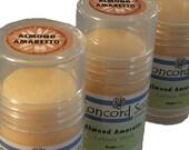 Almond Amaretto Handmade Solid Lotion Stick - lotion bar, cherry, sweet, food scent moisturizer, travel, convenient,push-up tube, heel stick