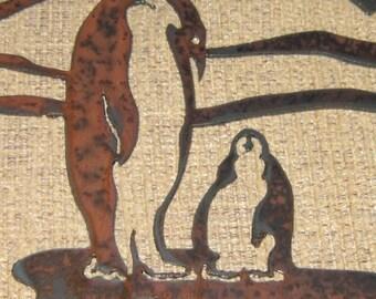 Penguins-Metal Art