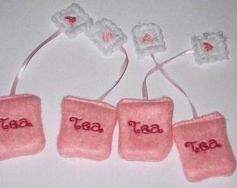 Pretend play felt food miniature tea bags set of 4 #PF2522