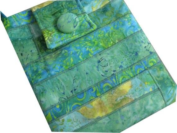 Hip Purse in Green Batiks