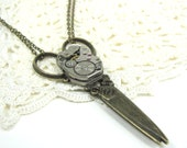Steampunk Scissors Necklace