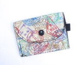 SALE Business Card ID Card Travel Card Holder Purse Places Handmade by BonTons on Etsy