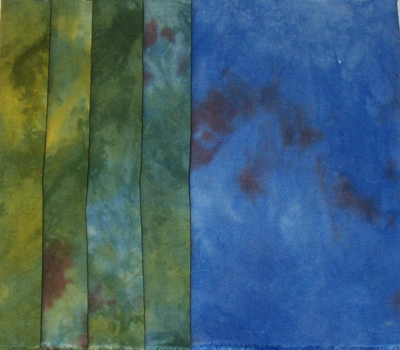 Autumn in the Ozarks Hand Dyed Fabric Collection 5  free shipping within USA