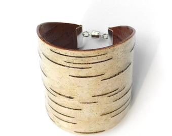 Birch bark cuff bracelet, The Large