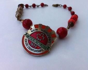 New Horizons Lawn Bowling Badge Bracelet
