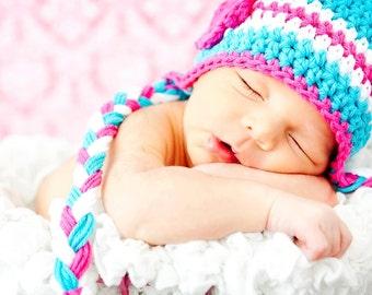 Baby Hat, Newborn Baby Hat, Cotton hat, Baby Photo Prop, Crochet Baby Hat