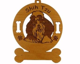 3963 Shih Tzu Head Personalized Dog Ornament