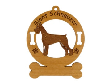3231 Giant Schnauzer Standing Personalized Dog Ornament - Free Shipping