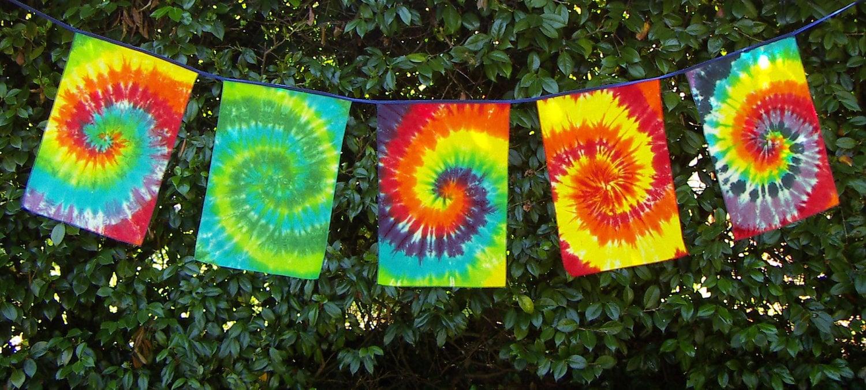 Tie Dye Dream Flags Tie Dye Banner Ready To By Tiedyedmonkeys