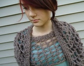 Taupe Net Scarf