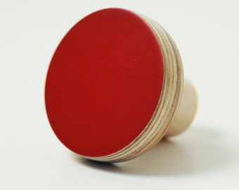 Wooden knobs red color