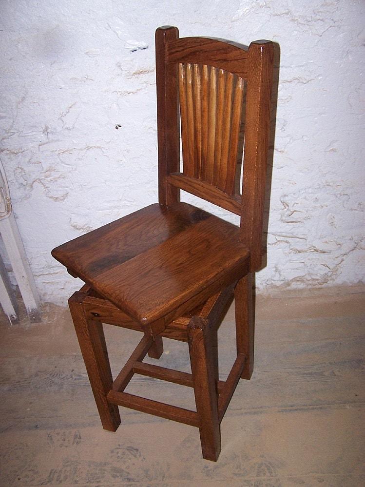 reclaimed antique oak swivel bar stools