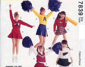 McCall's UNCUT Costume Pattern 7839 - Girls Cheerleading Costume - 7-10