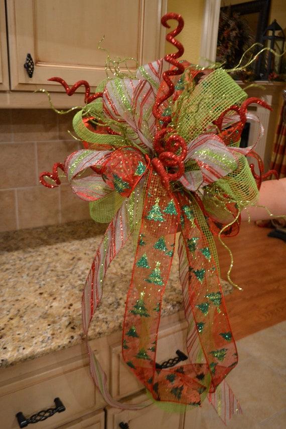 Curly Glitter Stick Ribbon Tree Topper