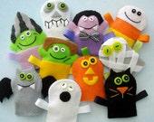 Halloween Felt Finger Puppets Sewing Pattern - PDF ePATTERN