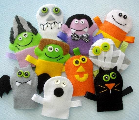 Пальчиковые игрушки к Хэллоуину