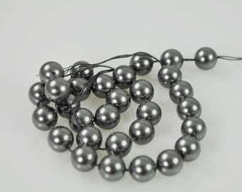 50 Dark Grey AB Swarovski Pearls - 8mm (5810)