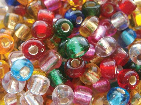 30% OFF - 20 gram bag seed beads assorted colors