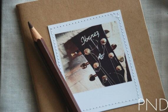 PND Acoustic Guitar Photograph Stitched Moleskine Notebook