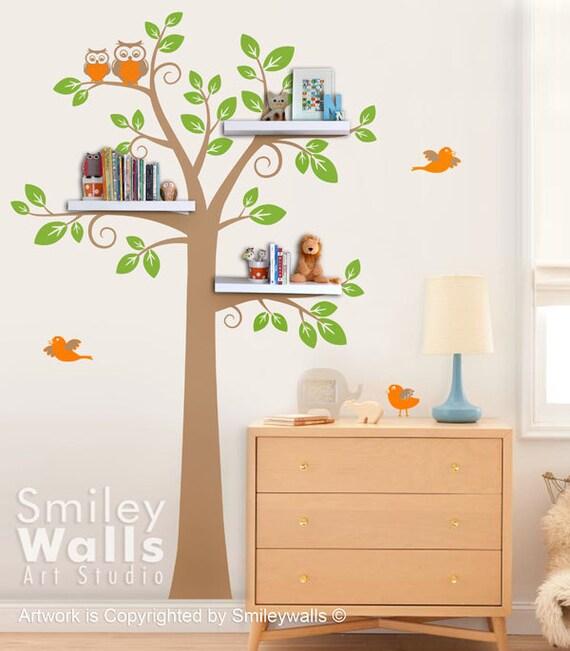 Shelves Tree Wall Decal Shelving Tree Wall Decal Tree Wall