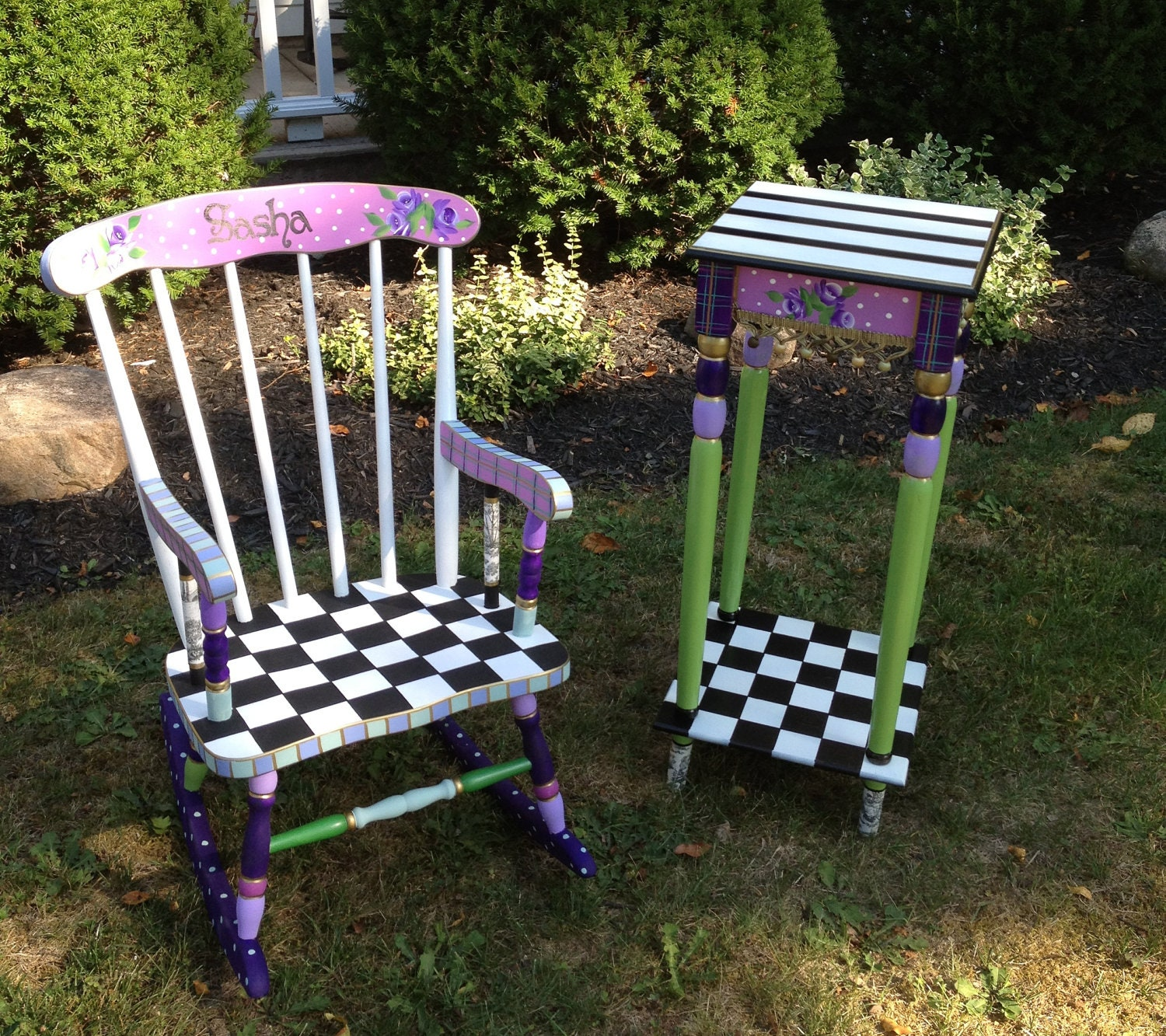 Whimsical Painted Furniture Custom Hand Painted Childs