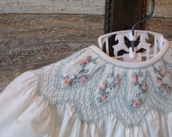 Babycakes - Smocked Dress for Sizes Newborn, 3 Months, and 6 Months