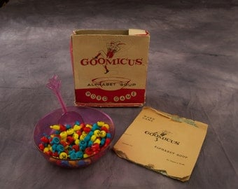 Vintage Goomicus Alphabet Soup Word Game