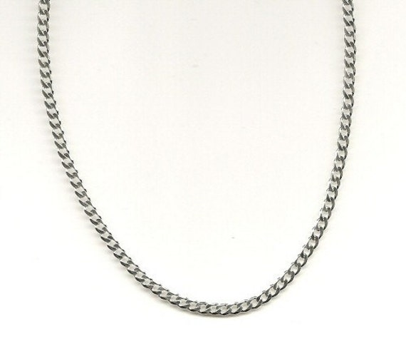 chain dp inches avaialbe curb italian silver sterling necklace