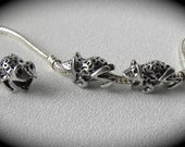 European Charm Beads Frog