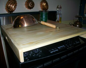 Sleek wood Stove Top Cover Board  or RV Burner Cover Fits Over Burners - ntl
