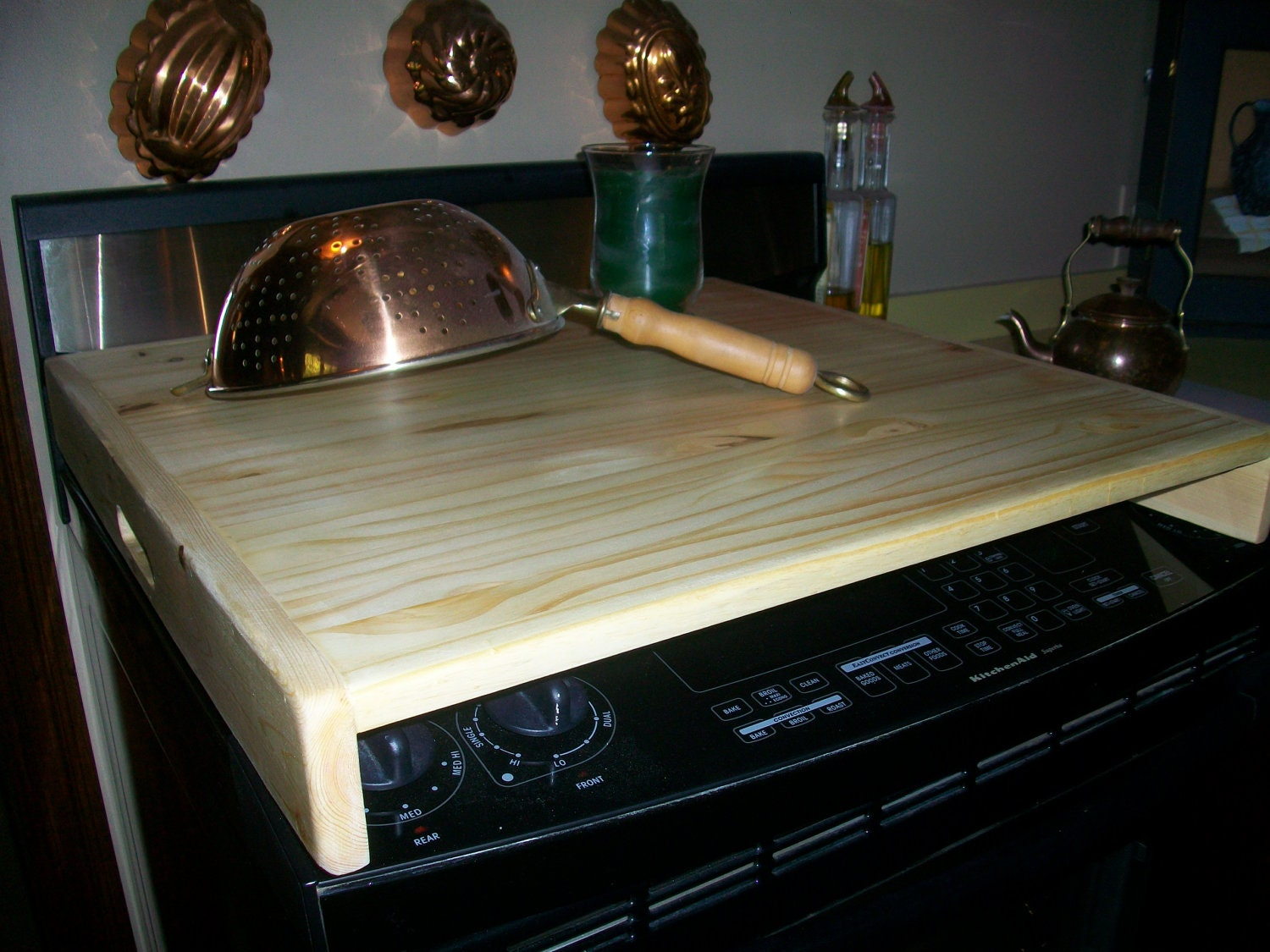 Rv+Electric+Stove+Top Sleek wood Stove Top Cover Board or RV Burner by ...