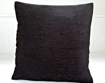 black cushion cover, accent decorative pillow cover 16 inch