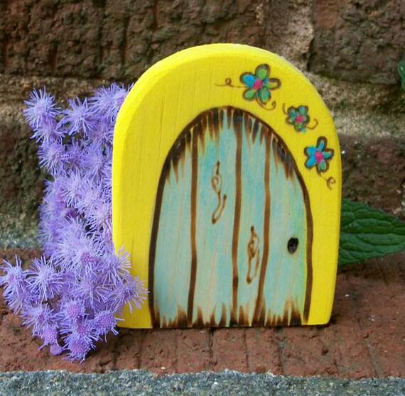 Wooden rounded fairy door fridge magnet gnome door magical for Wooden fairy doors that open