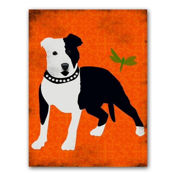 Staffordshire Bull Terrier Dog - Fine art print, dog art prints, Dog lover, decor, black and white color, Mothers Day