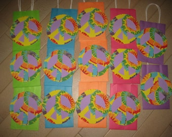 Clearance - READY TO SHIP - Peace Sign Birthday Party Favor Bags