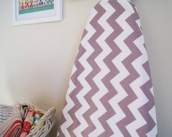 Ironing Board Cover - Chevron in Gray and White