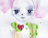 Girl With Heart - Original Illustration