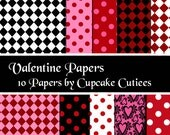 Valentine Polka Papers - Polka and Fun- Instant Download