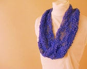 Purple Fashion Infinity Scarf - Summer Lace Twist Scarf
