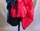 """Harley Quinn Two Skirt Bustle Tie On Skirt and Tutu Set-To Fit Up To A 35"""" Waist"""