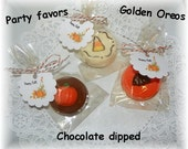 Fall Chocolate dipped Double Stuff Golden Oreos (1 dzn)
