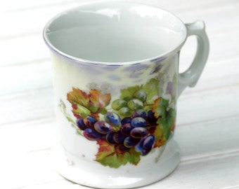 Antique Shaving Cup Mug Grapes