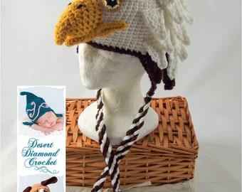 Crochet Pattern 072 - Eagle Hat - All Sizes