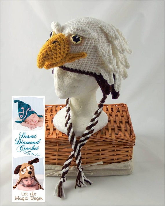 Eagle Hat - Any Size - Any Color - School Spirit