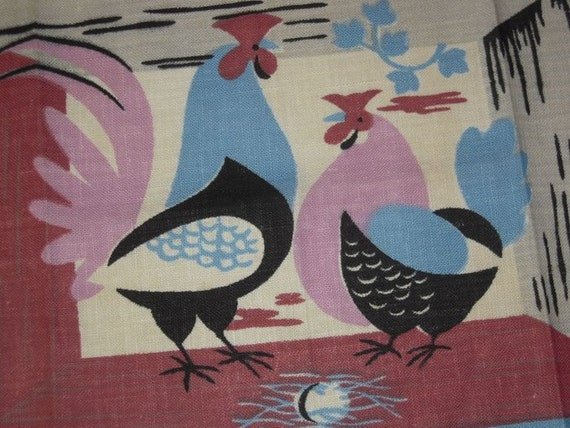 Vintage Towel Rooster in the Henhouse MWT