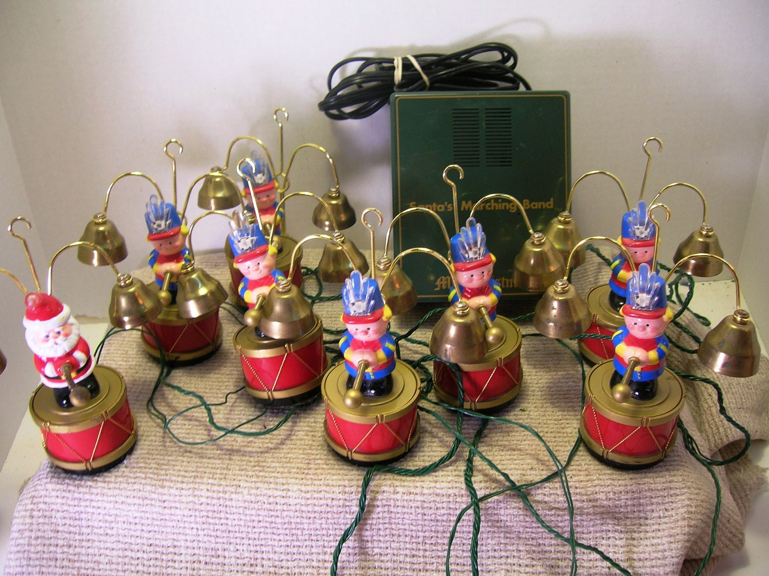 vintage mr christmas santa 39 s marching band musical vintage musical christmas decorations